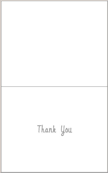 Inside The Thank You Card