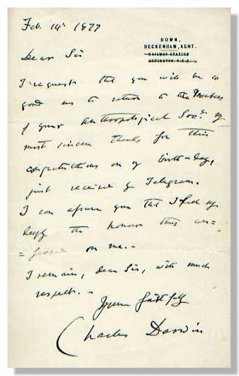 Charles Darwin Letters